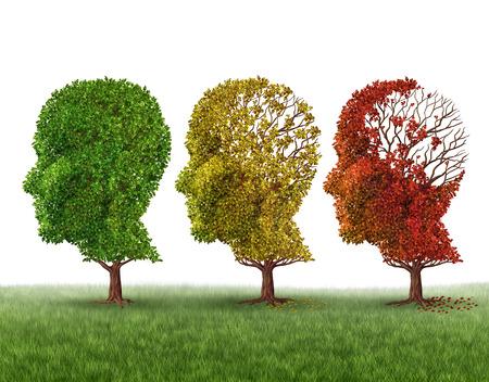 Ztráta paměti a stárnutí mozku v důsledku demence a Alzheimerovy choroby Reklamní fotografie