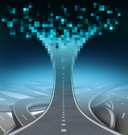 Digital highway and technology communication concept