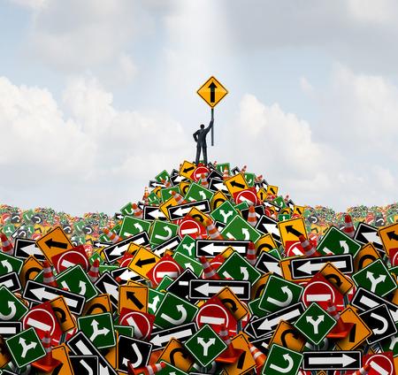 Éxito gerente y solución dirección concepto de negocio