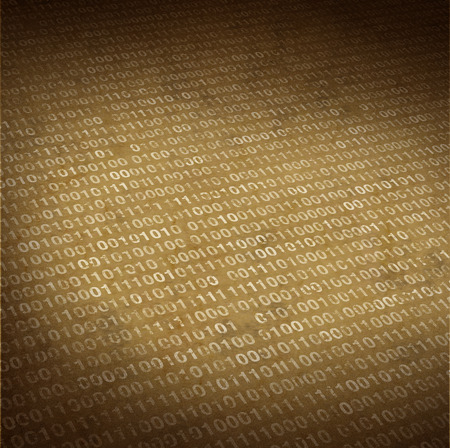 computer programmer: Old computer code background as an antique grunge programming language coding as a vintage technology design element. Stock Photo