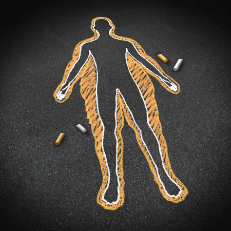 fitness goal: Dieting and body health concept as a chalk drawing on a road surface with an obese person and a thin one inside as a weight loss goal symbol for a healthy fitness diet and exercise lifestyle.