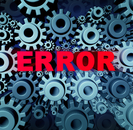 not a problem: Error page concept and a problem website with a broken or dead link symbol as a group of gears and cog wheels with three dimensional text breaking the network connection resulting in internet search not found. Stock Photo