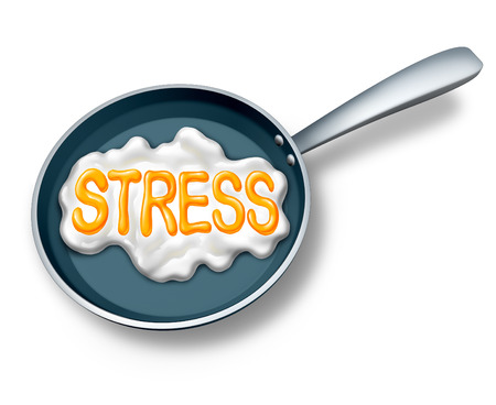 burnout: Stress concept and stressed out symbol or work burnout icon as a fried egg in a hot pan shaped as text as a mental health metaphor for extreme emotionalcrisis due to debt or abusive lifestyle.