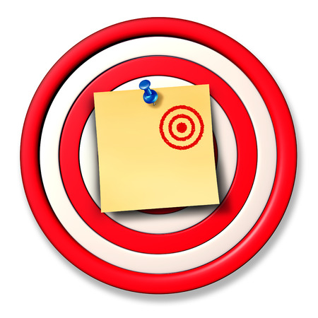 thumb tack: Changing the rules of the game business concept as a dart target board and a paper office note with a small drawing of a new target posted on the circular object with a thumb tack as an adaptive strategy metaphor.