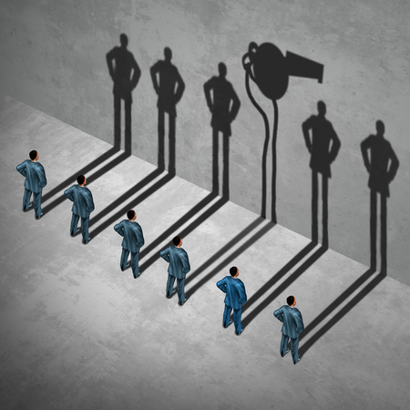 Whistleblower oder Whistleblower-Konzept als Symbol eines geheimen Informanten Agent posiert als Angestellter mit seinem Schattenwurf einer Pfeife als Metapher für innen infoermation auf Fehlverhalten in einer 3D-Darstellung Stil.