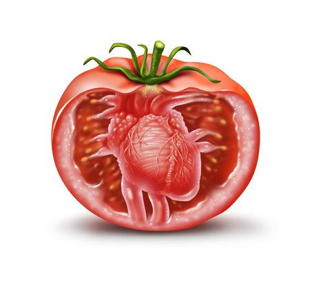 tomate: santé cardiaque tomate icône médicale comme un symbole de la santé des fruits et légumes pour antioxydant naturel et le supplément de la nutrition cardio-vasculaire pour aider à prévenir les attaques et les accidents vasculaires cérébraux riches en lycopène et en caroténoïdes dans un style d'illustration 3D.