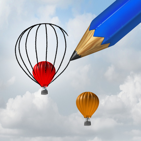 Rigging the system or rigged establishment concept as a giant pencil representing the established power controlling influencing and helping a candidate rise above unfairly to win an election or business competition with 3D illustration elements.