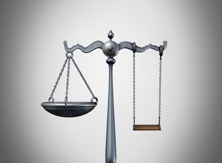子どもの法律の法的考えと親権弁護士戦略の概念は、3Dイラストとして青少年裁判所のための不良な子供時代のシンボルとしてスイング子供と弁護士