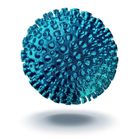 型肝炎ウイルス細胞疾患概念 3 としてウイルス感染症のため医療のシンボルとして人間の病気の病原体の立体イラストレーション。
