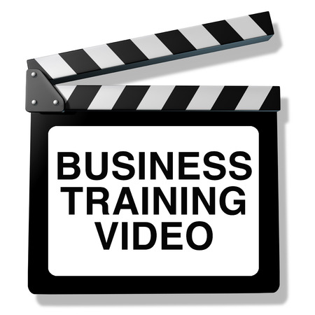3 D イラストレーションのスキルとビジネス トレーニング ビデオおよび従業員命令コース トレーニング教育プログラム。 写真素材