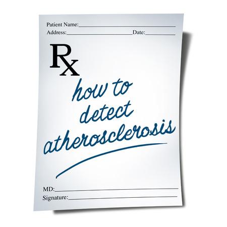 動脈硬化診断医師処方の注意点としては 3 D イラストレーションとして動脈閉塞の症状の治療のため医療医療のシンボルとしてテキスト。
