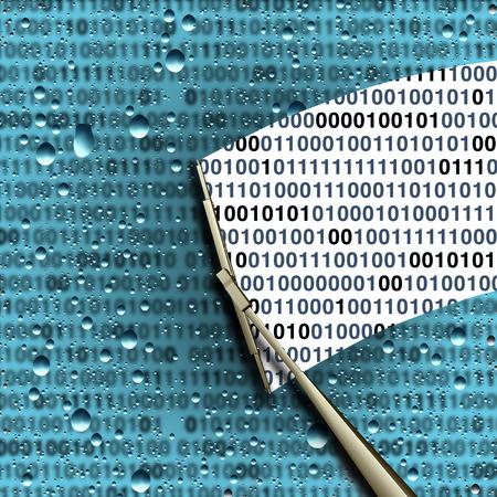 해독 및 데이터 해독 또는 암호화 된 디지털 정보를 해독 및 해독하고 3D 이미지로 코딩 기술 보안 아이콘으로 코드 기호를 해킹,