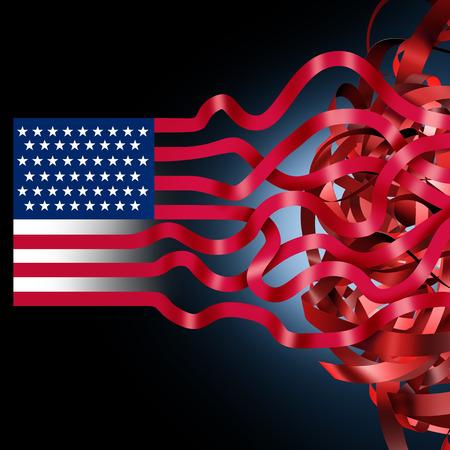 米国政府は、3Dイラスト要素を持つ国家財政問題として支出法案の不一致のために米国連邦政府の混乱をシャットダウンします。 写真素材 - 93956884