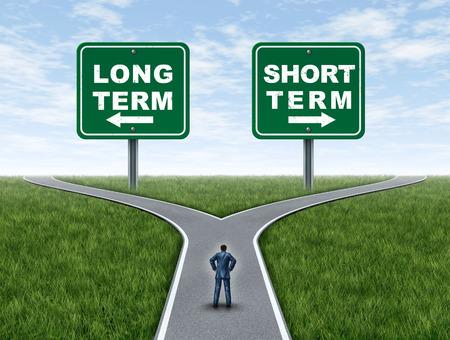 Investissement et planification financière à long et à court terme ou stratégie d'investisseur pour investir dans un fonds conservateur ou une stratégie agressive avec des éléments d'illustration 3D. Banque d'images - 94420737