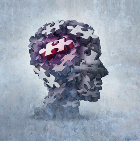 Neurosis mental disorder concept as an obsessive behavior psychiatric and psychology symbol as a 3D illustration.