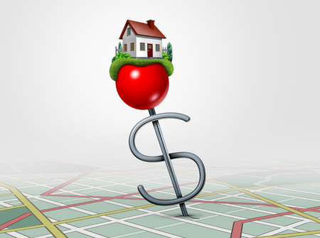 Real estate investing and finding a family home property concept as a 3D illustration.
