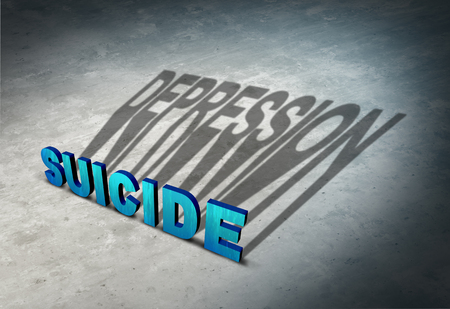 Suicide and depression warning signs of hopelessness as a mental illness health concept as a permanent solution to a temporary state of mind symbol as a 3D illustration.