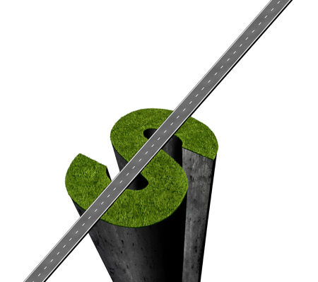 Money success and economic gains or retirement planning anf financial plan idea or successful fortune concept as a 3D illustration isolated on a white background. Stock Photo