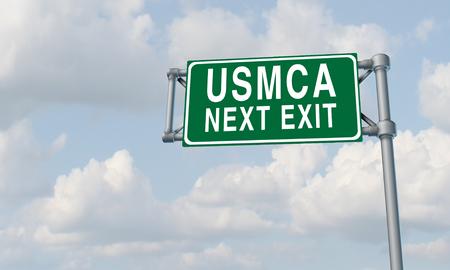 USMCA sign in North America