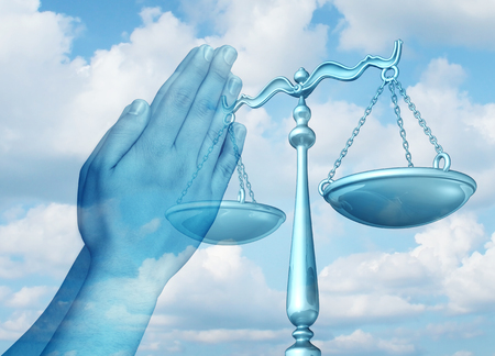Freedom of religion and religious legal rights protection and law advice concept