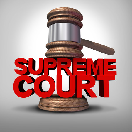 Supreme court symbol as a government law symbol as a justice Stock Photo