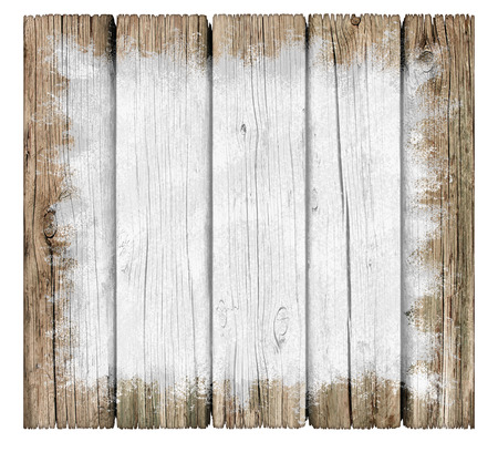 Rustic wood painted sign background with old weathered texture as a grunge distressed antique wall planks in a vertical pattern aged by the sun as a vintage weathered design element in a 3D illustration style. Banco de Imagens