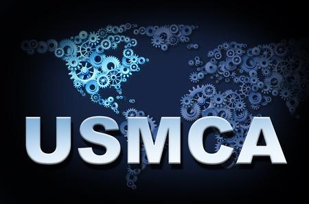 United States Mexico Canada agreement USMCA or the new NAFTA symbol Stock Photo