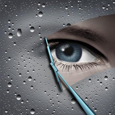 Videz votre esprit et comprenez le concept de psychologie et éliminez l'anxiété ou les pensées négatives avec des éléments d'illustration 3D. Banque d'images