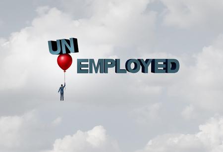 Employment business hiring concept as a recruitment job concept with 3D illustration elements.
