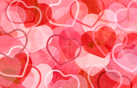 Love abstract background as apink and red design representing a romantic valentine holiday pattern with 3D illustration elements.