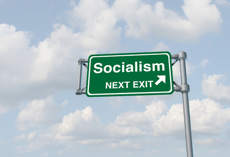 Socialism political ideology and socialist country or social democrat concept as a 3D illustration.