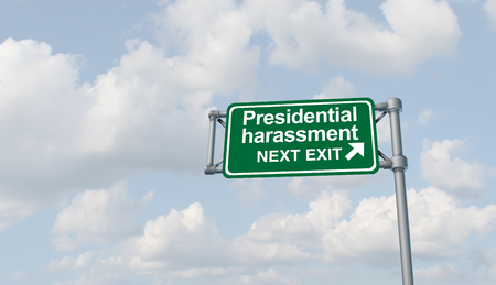 Presidential harassment politics and United States political as congress oversight investigating the American president and government for possible impeachment proceedings in a 3D illustration elements.
