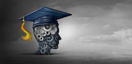 Concept of business education and work skills or career skill idea and corporate training as a 3D illustration.