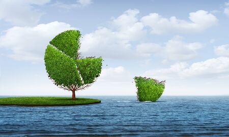 Investing in foreign markets and business diversification as a business concept for international growth potential as a tree shaped as a financial pie chart with 3D illustration elements. Stockfoto - 129250182