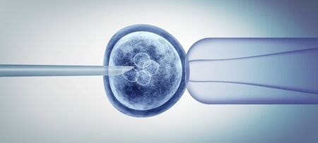 Editing gene biology and reproductive genetic biotechnology as a 3D illustration.