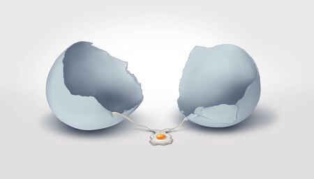 Concept of disappointment and disapointed result metaphor as a business failure symbol in a 3D illustration style.