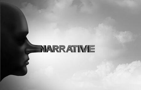 Falsche Erzählung und Betrug in den Nachrichtenmedien oder ein geheimer Informant oder eine anonyme Quelle, die als Reporter oder politisches Vertrauenskonzept mit 3D-Illustrationselementen lügt.
