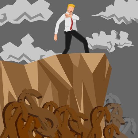 man fiscal cliff Vector