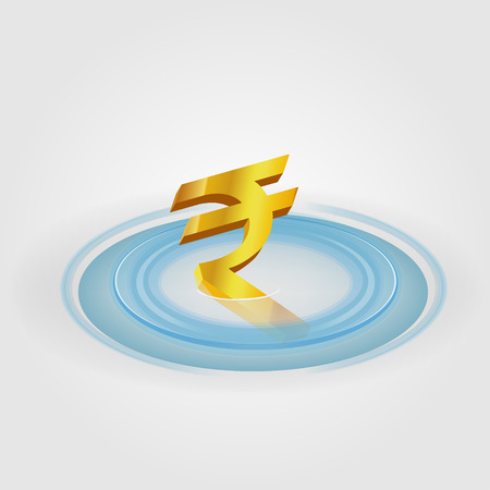 Rupee Ripple Currency Vector