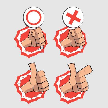 revolt: Hand punch Illustration