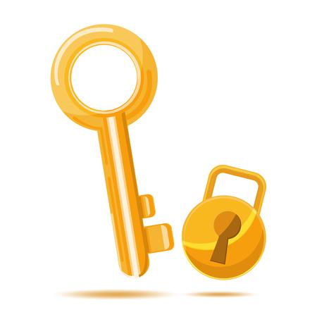 gold key: Gold Key Business icon cartoon vcetor