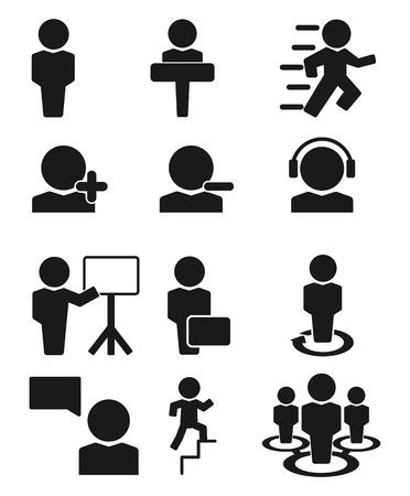 Man Personnage icône vecteur Vecteurs