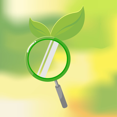 biologic: Organic Nature Lens Leaf Search Vector