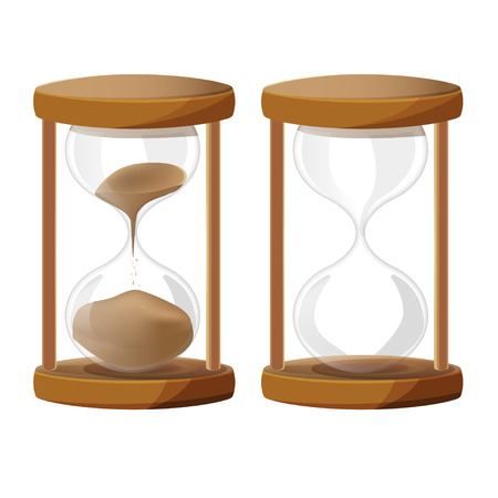 sand glass: Sand Glass Time Clock vettore