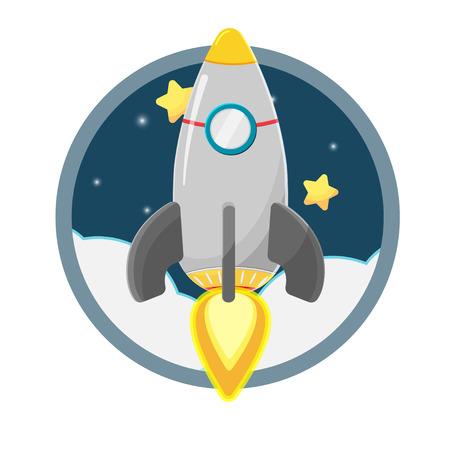 Rocket star space soar vector Illustration