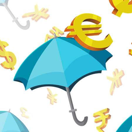 currency symbols: Umbrella Currency Symbols Finance Vector