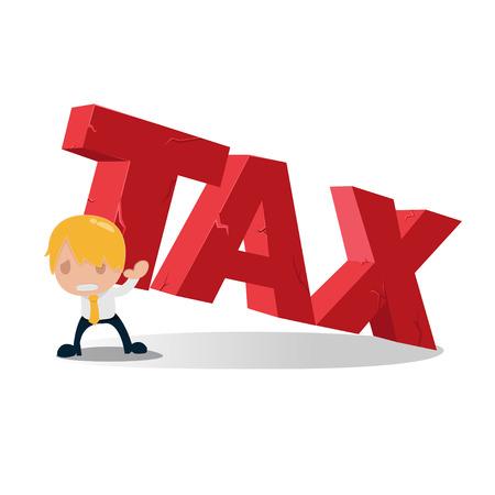 pesantezza: Man Carry fiscale Testo Pesantezza Vector