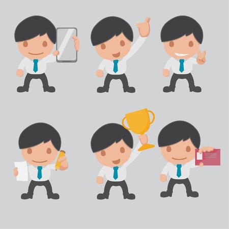 Character Business Worker Cartoon Set Vector Vector