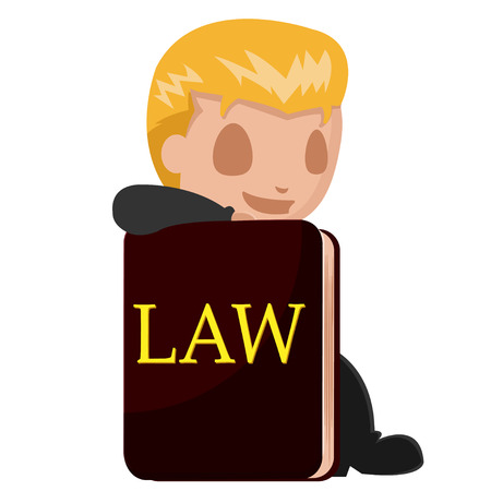 worker man: Worker Man Lawyer Cartoon Book Vector