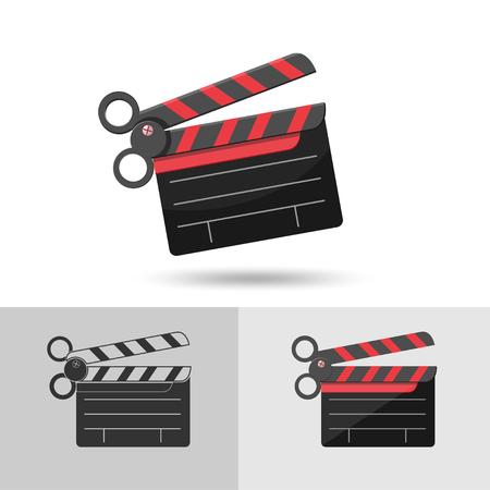 film slate: Scissors Slate Film Icon Symbol Vector